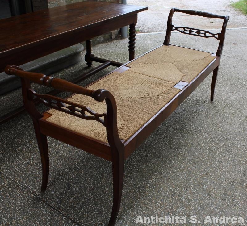 Panca legno di noce restaurata - Toscana - fine \'700 primi \'800 ...