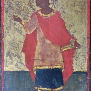 Fondo oro raffigurante icona dipinta greco ortodossa realizzato tra la fine del '700 e i primi dell'800.