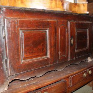 Cassapanca in legno di noce, in buone condizioni, realizzata in Francia nell'800.
